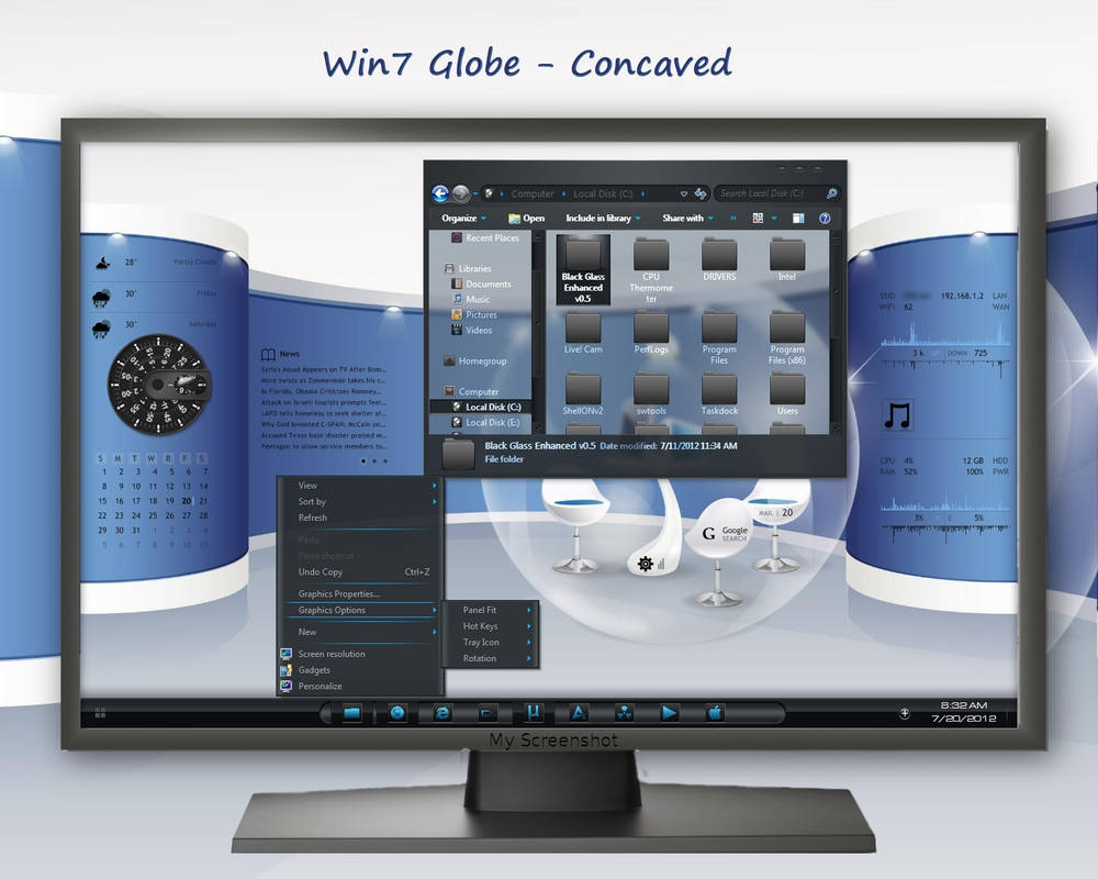 Win7 Globe - Concaved by rvc-2011 on DeviantArt