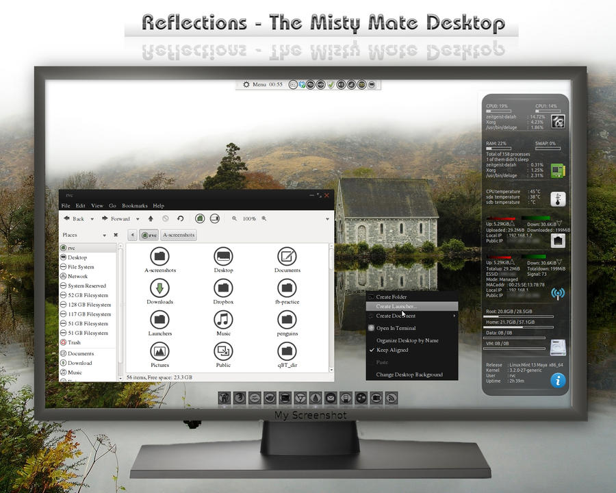 Reflections - Misty Mate Desktop by rvc-2011