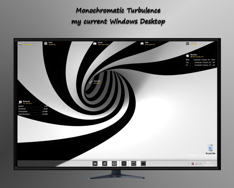 Monochromatic Turbulence - My Windows Desktop by rvc-2011