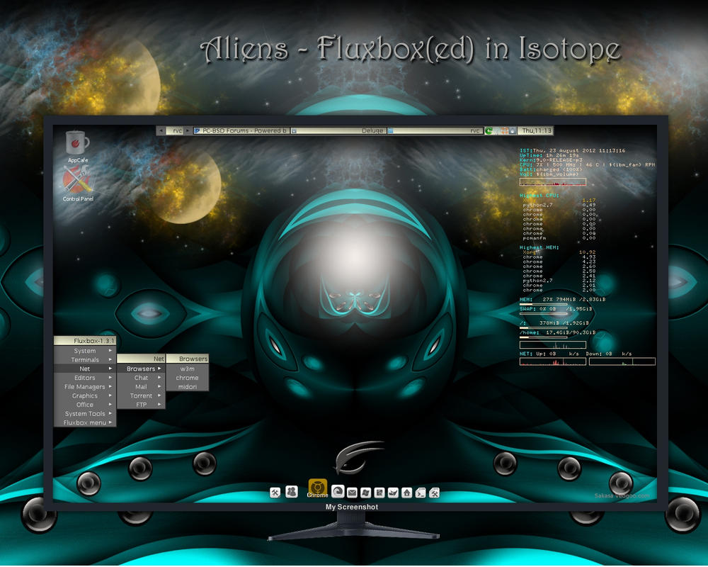 Aliens - Fluxbox(ed) in Isotope by rvc-2011