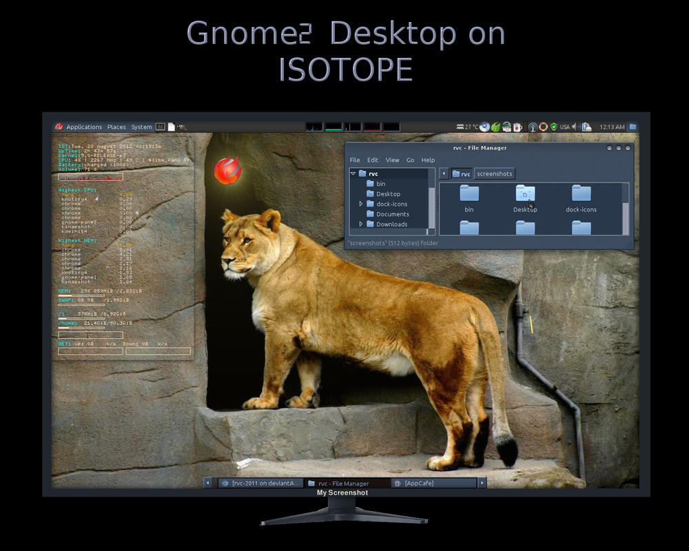 Gnome2 on Isotope - My Screenshot by rvc-2011