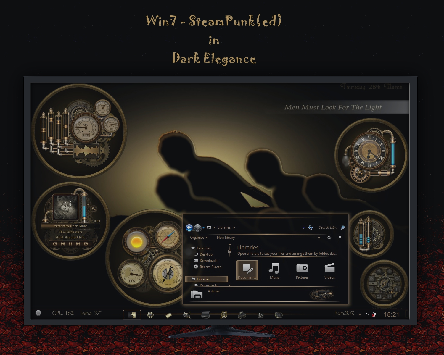 Win7 - SteamPunk(ed) in Dark Elegance... by rvc-2011