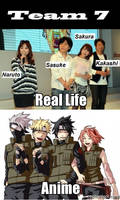 Team 7: Real Life V.S Anime by wow1076