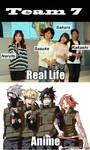 Team 7: Real Life V.S Anime