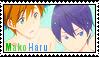Free! Stamp: MakoHaru 5 by wow1076