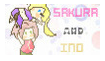 Request Naruto Stamp: Sakura And Ino by wow1076