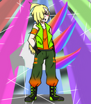 Art Trade: Gladion in Neon Clothes
