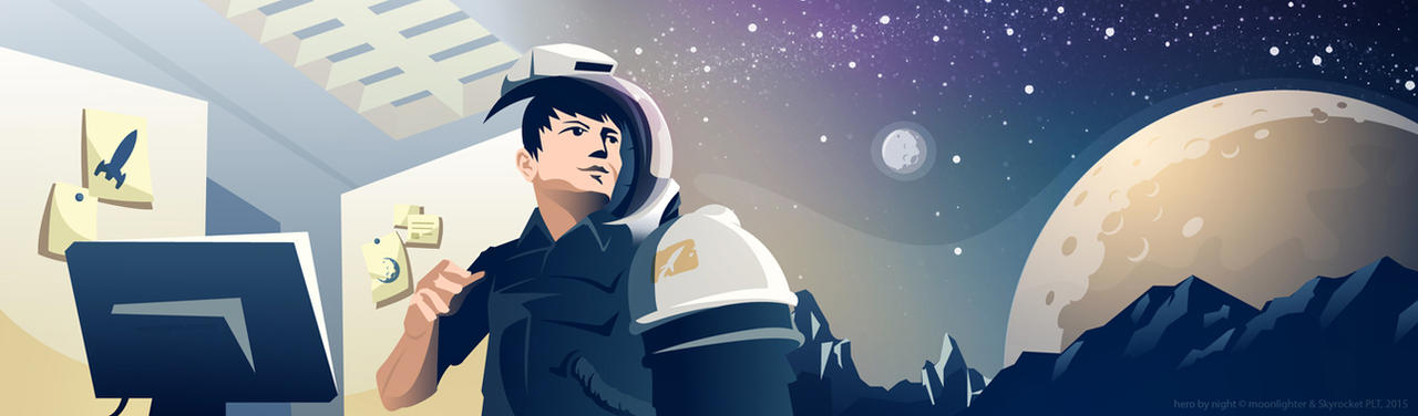 Astronaut by Night by Ashed-Dreams