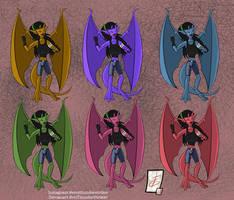Yushiko Gargoyle Alternative Colors by EricThunderStriker