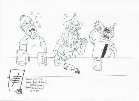 Inktober 2019 Drunks Drinking Day 21