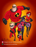 The Incredibles by EricThunderStriker