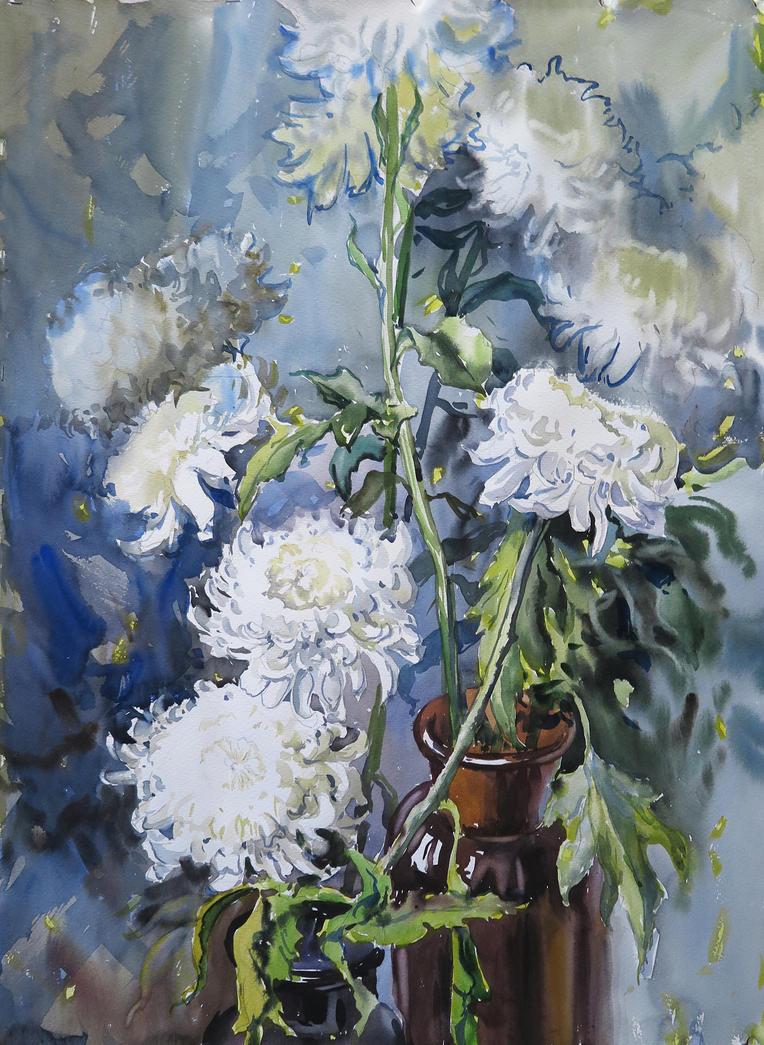 Chrysanthemums by tiN-naR