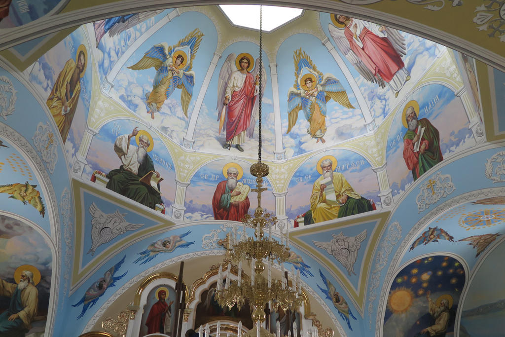 Murals in Kostyantinivka Church by tiN-naR