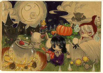 Halloween mad'on chebeeZ by Cajochu