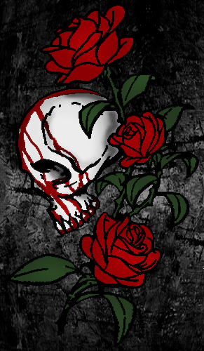 Bloody Skull Rose by LivingDeadSuperstar on DeviantArt