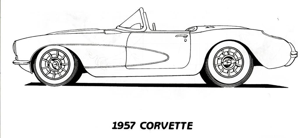 1957 Corvette Line Art Scan by LivingDeadSuperstar on DeviantArt
