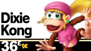 Dixie Kong (Super Smash Bros. Ultimate) by LivingDeadSuperstar