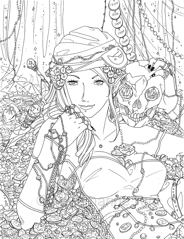 pirate fairy coloring pages - pirate treasure by glittercandy on deviantart