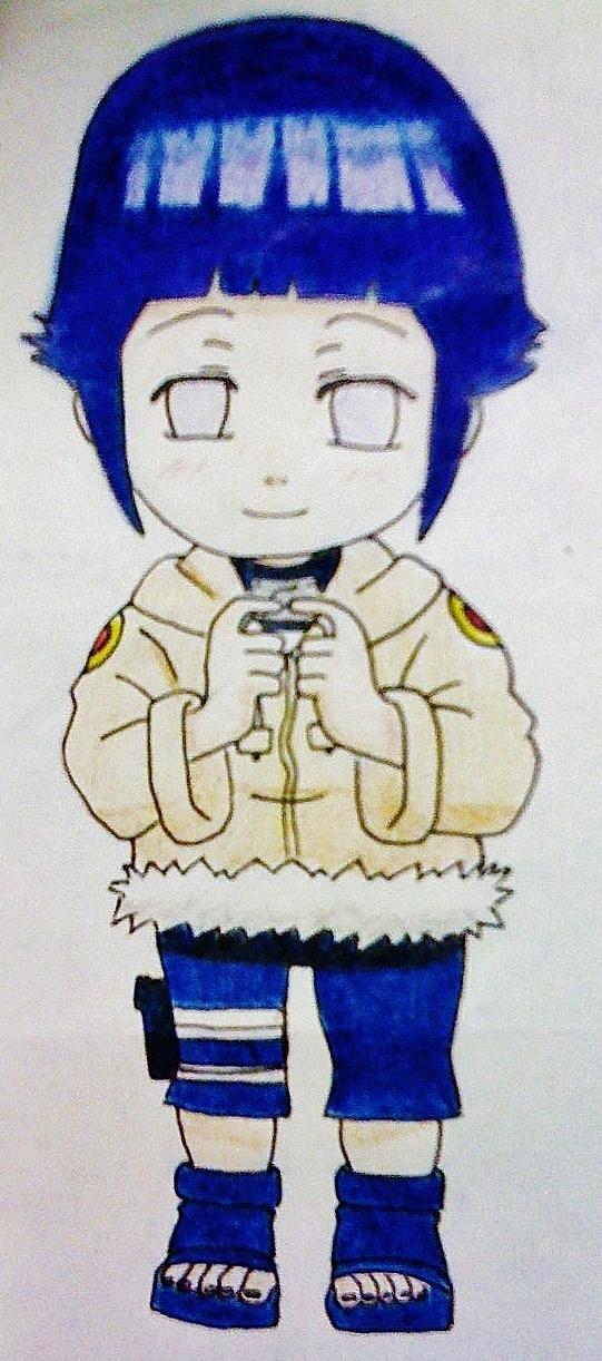 Chibi Hinata (Coloured) by carolin36v