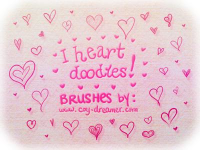 Brushes - I Heart Doodles by coy-dreamer