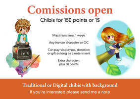 Comission chibis for 150 points