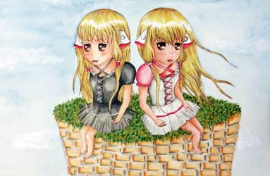 Chobits fanart- Chii (Elda) and Freya Chibis