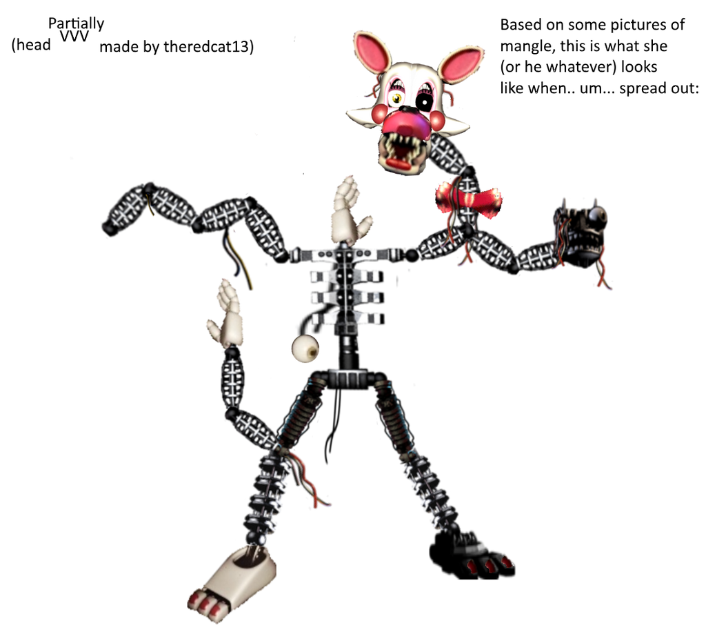 Mangle - Full Body (old, fnaf2 version) by ...