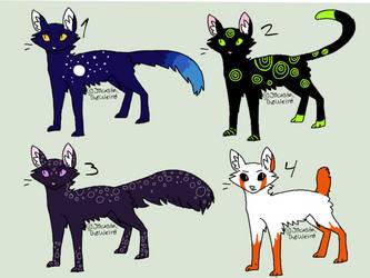 5 point cat adopts ( 1/4 open) by Snowbark-Warrior