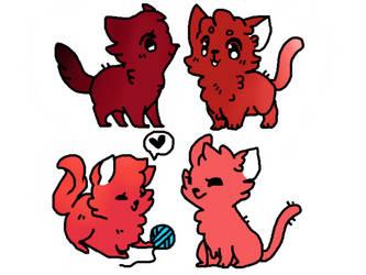 Cat adopts (open) by Snowbark-Warrior