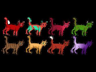 5 point Cat adopts (8/8 open) by Snowbark-Warrior