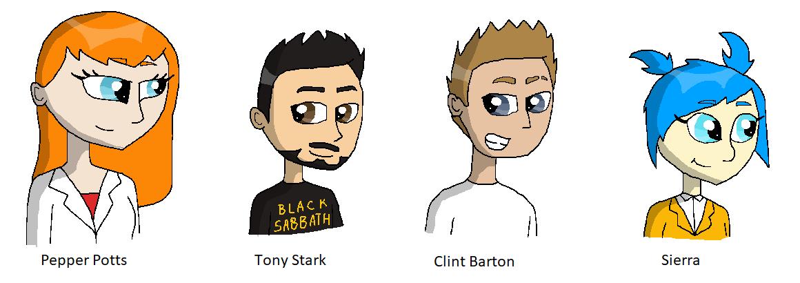 MCU Fan Comic Character Designs 1 by summer-leah98