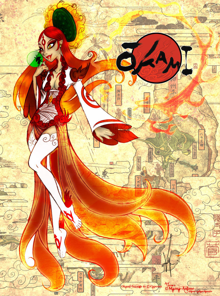 Lady Amaterasu Okami by SankofaRida