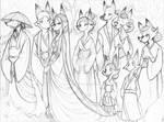 Kitsune Wedding Linework
