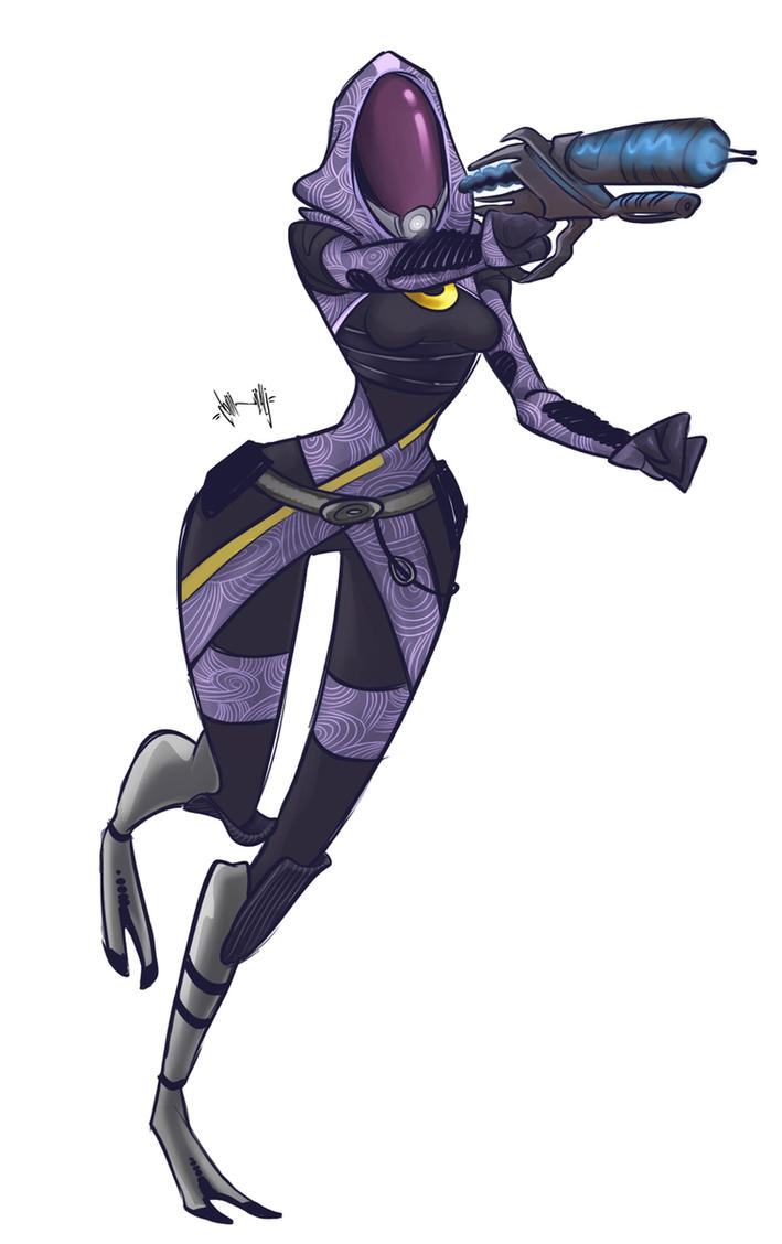 Tali'Zorah vas Normandy by dominicali