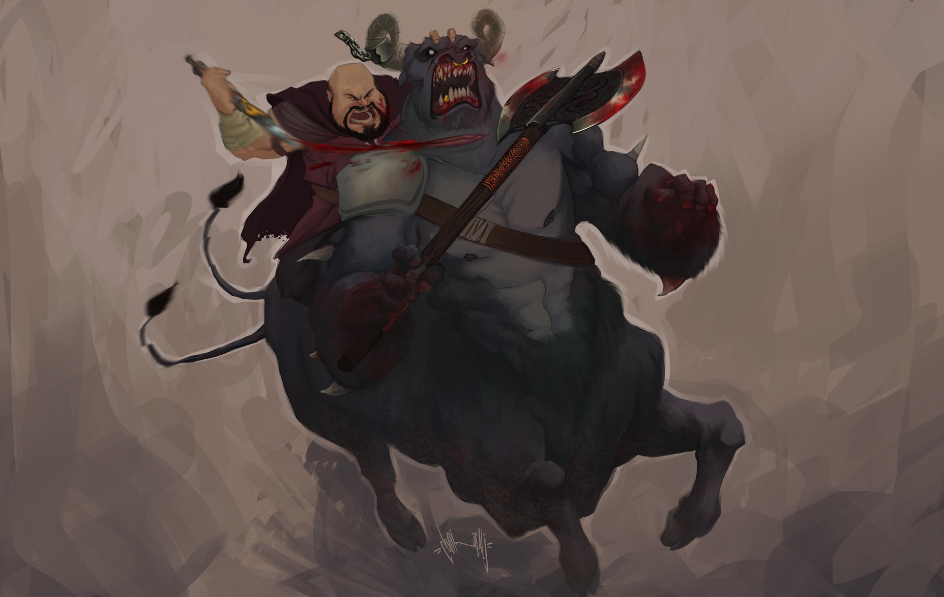 Azaghal e o Bucentauro by dominicali