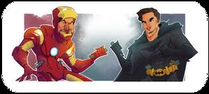 Tony Stark vs Bruce Wayne by dominicali