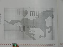 501 cross stitch designs i love my horse