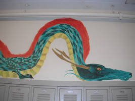Dragon hallway close up