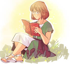 Summer Reading by dottypurrs