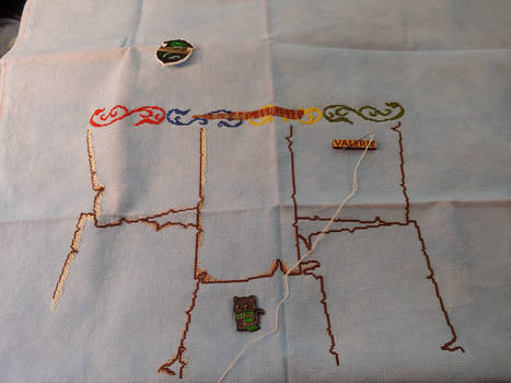 Slytherin harry potter cross stitch part 3