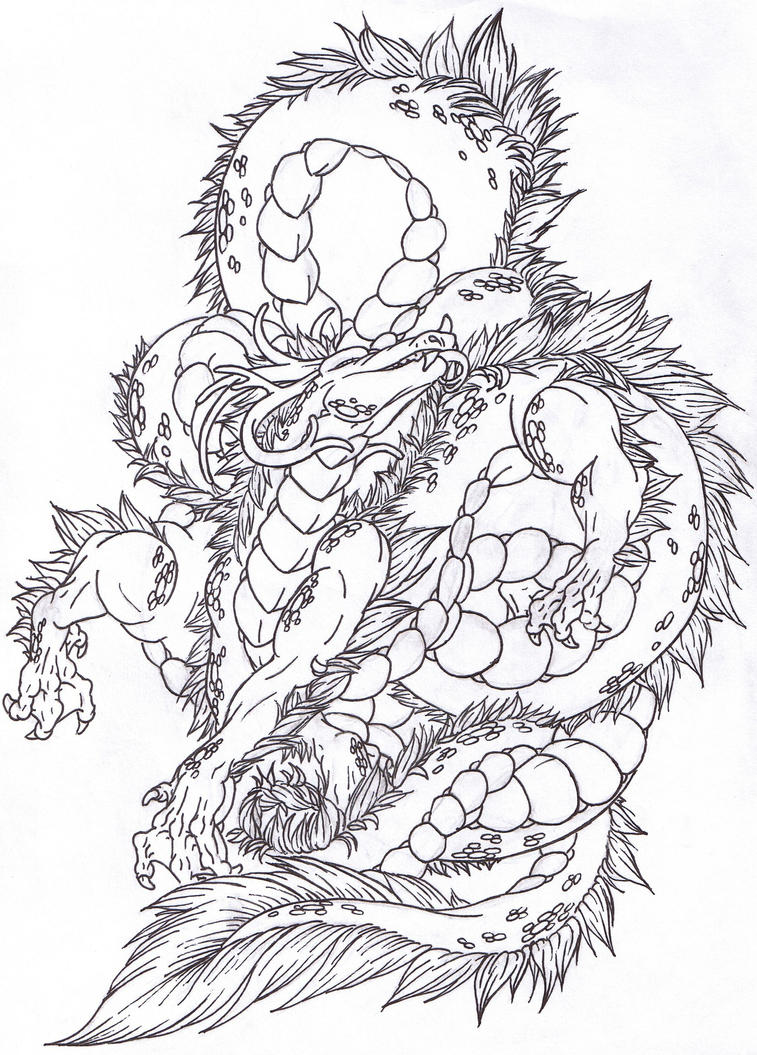 Line Art Dragon : Dragon lineart by takashidaimao on deviantart