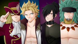 Sabertooth's Male Mages by CelestialRayna