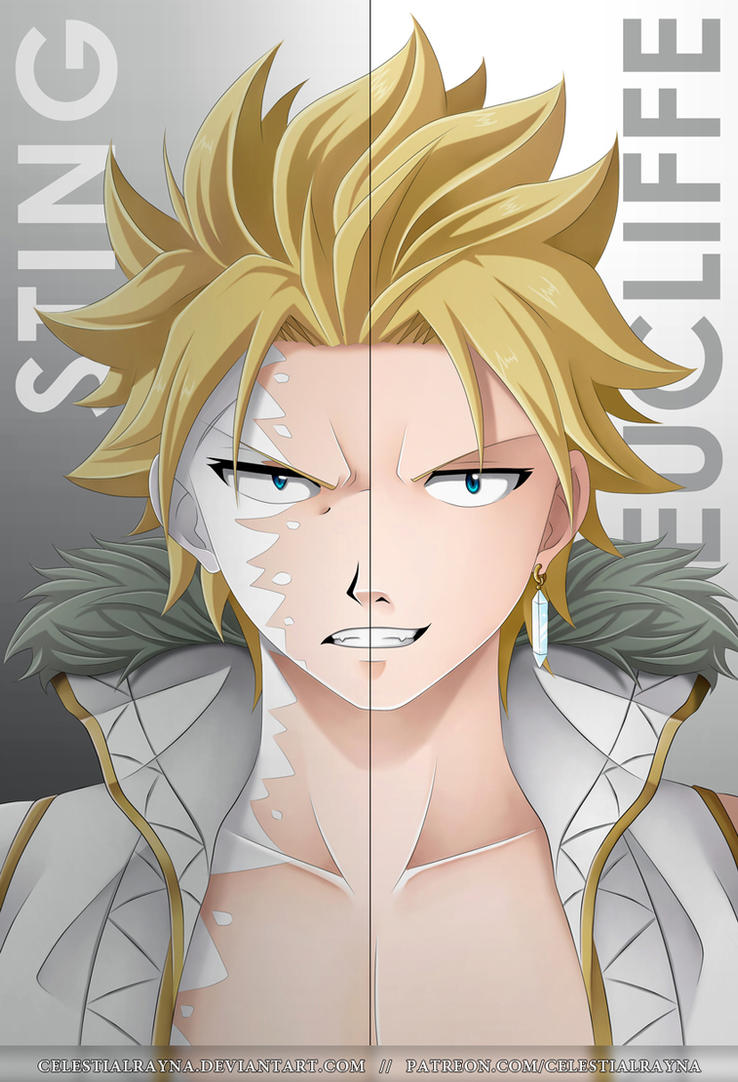 The two faces of Sting Eucliffe by CelestialRayna Dragon Slayers