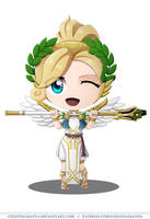 Commission - Chibi Mercy Winged Victory by CelestialRayna