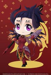 Chibi Mercy Devil by CelestialRayna