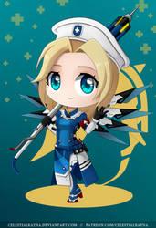 Chibi Mercy Combat Medic Ziegler by CelestialRayna