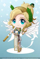 Chibi Mercy Winged Victory by CelestialRayna