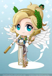 Chibi Mercy Winged Victory by CelestialRayna