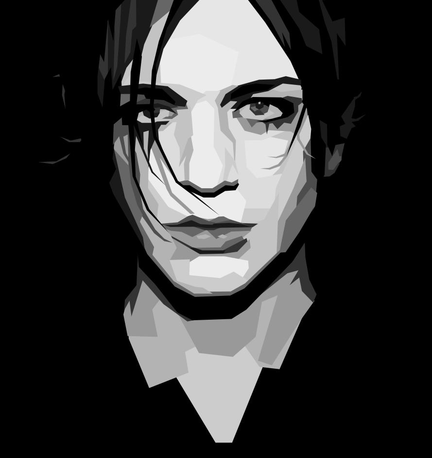 Brian Molko Black Background by Tharsius