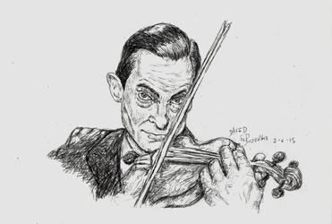 BallPoint Pen Jeremy Brett as Sherlock Holmes by davidsobo
